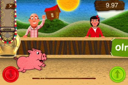 Piggy Race Portfolio Project mobile eLab Design