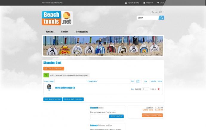 eLab Design Portfolio Beach Tennis Web