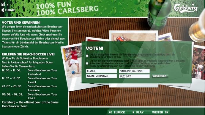 eLab Design Portfolio Carlsberg Web