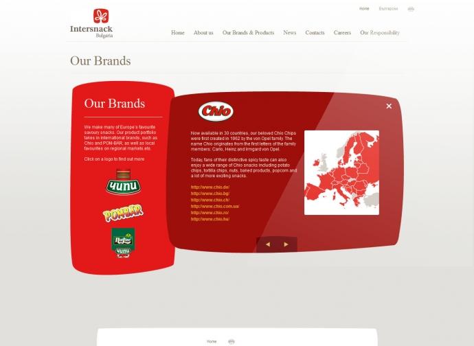 eLab Design Portfolio Intersnack Web