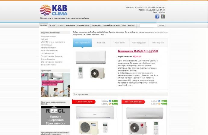 eLab Design Portfolio K&B Clima Web