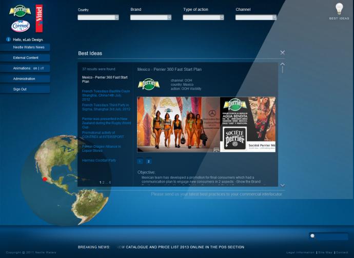eLab Design Portfolio Nestle Waters  Web