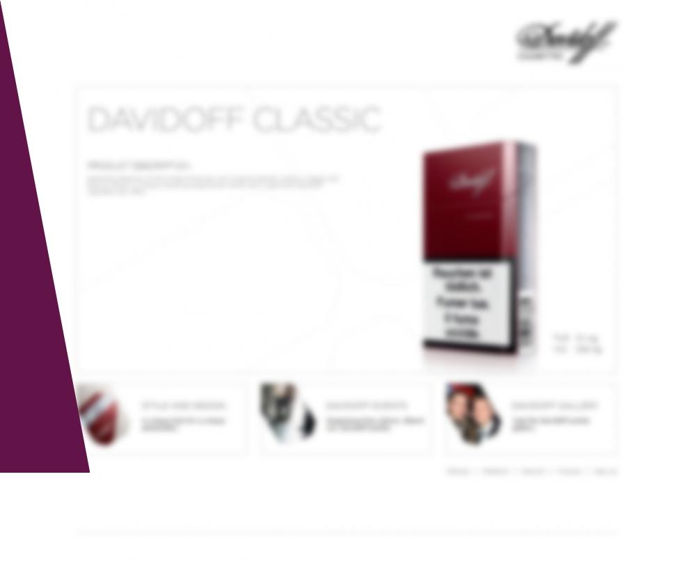 eLab Design Portfolio Davidoff Web